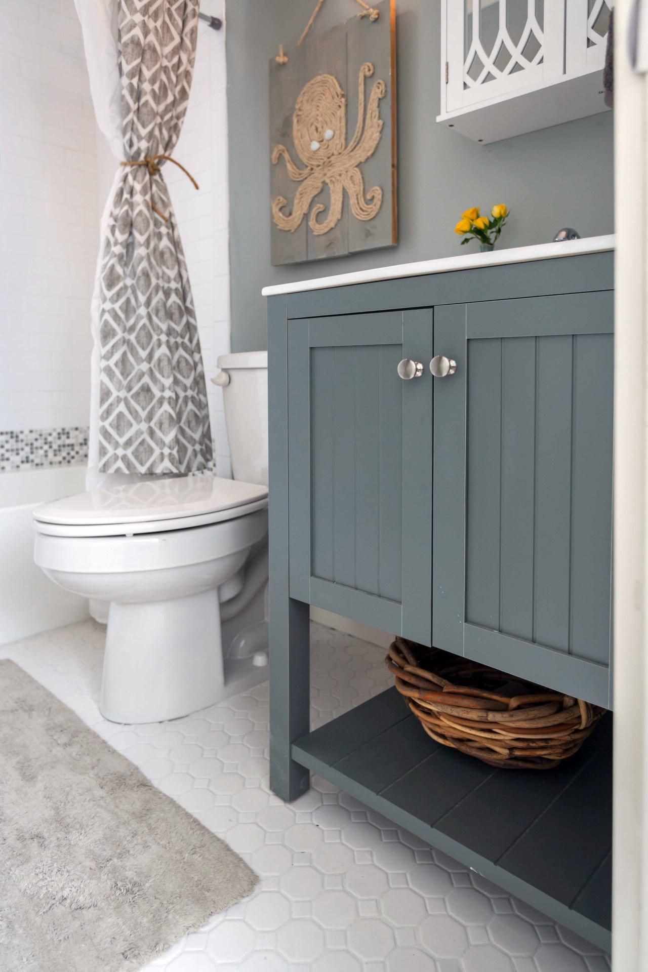 Bath Rustic Beach House Renovation From Hgtv S Flip