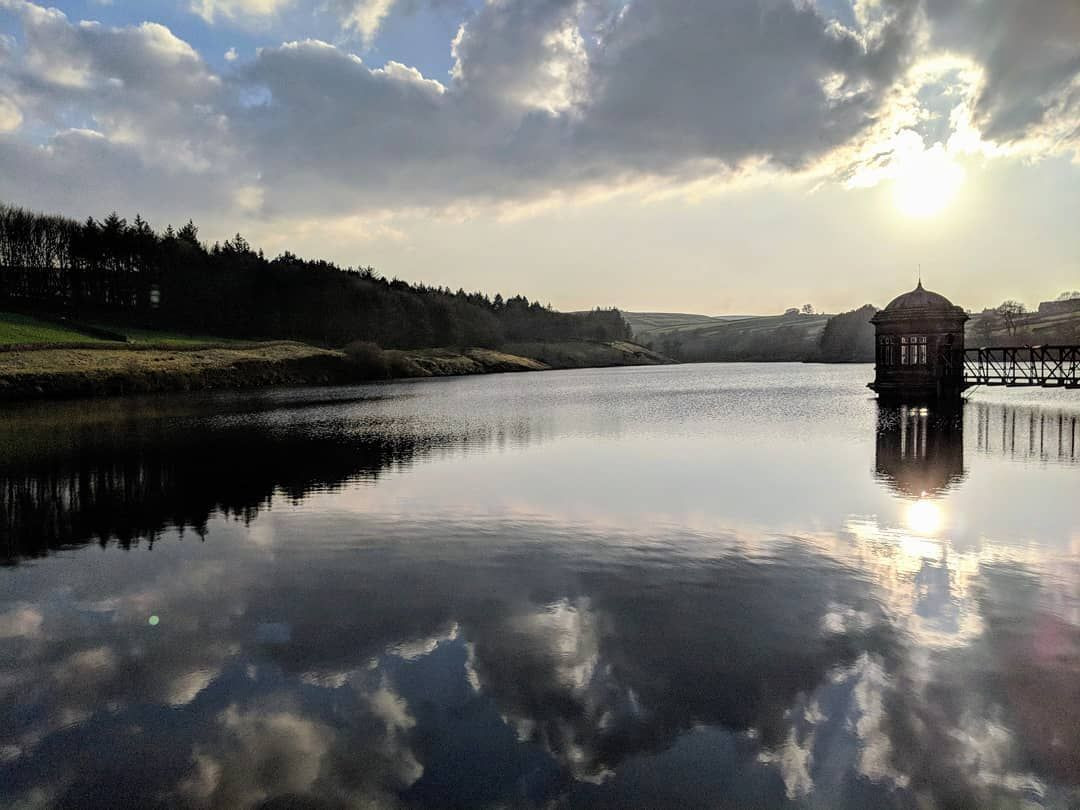 Reservoir Of Token Dreams Sunset Reservoir Yorkshire Haworth