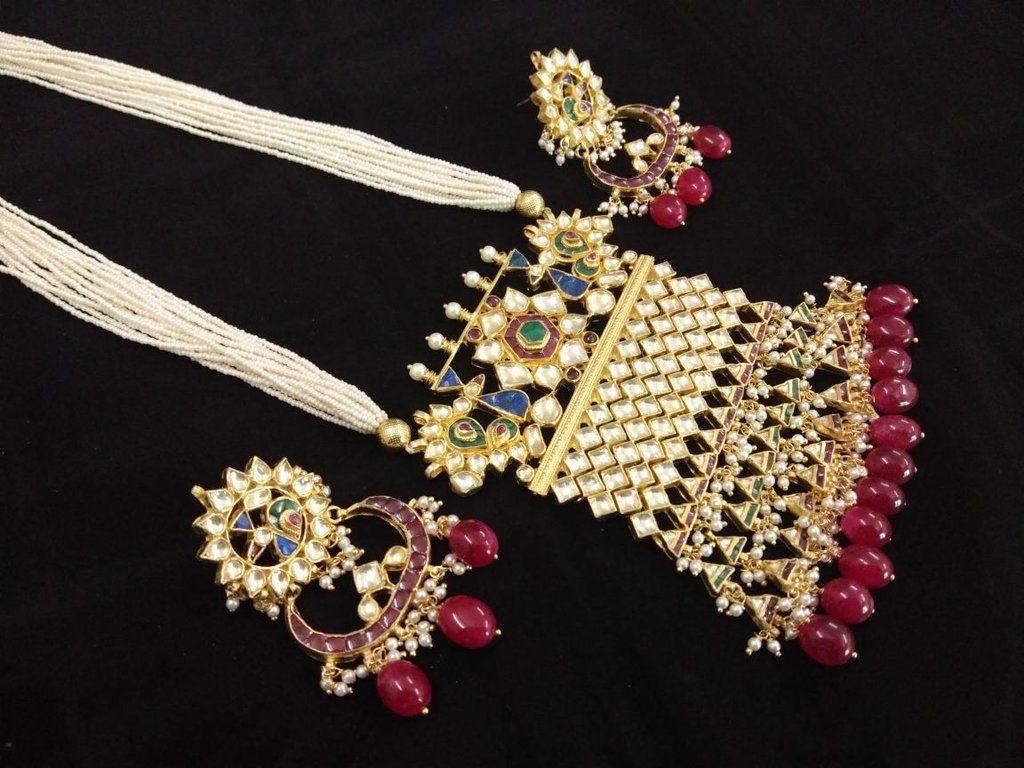 Meenakari kundan pendant set pendant set pendants and designers