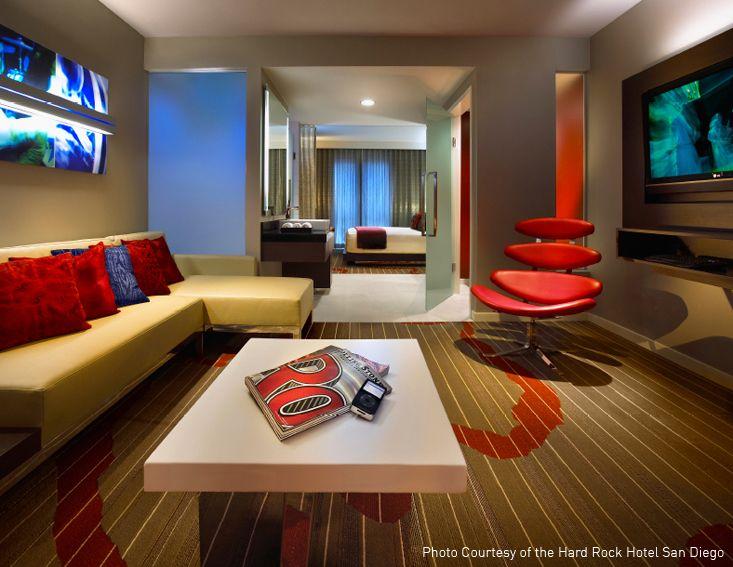 ProjectHARD ROCK HOTEL San Diego CA PRODUCT Shaw Hospitality Group Custom Tufted DESIGN