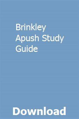 Brinkley Apush Study Guide pdf download online full Math