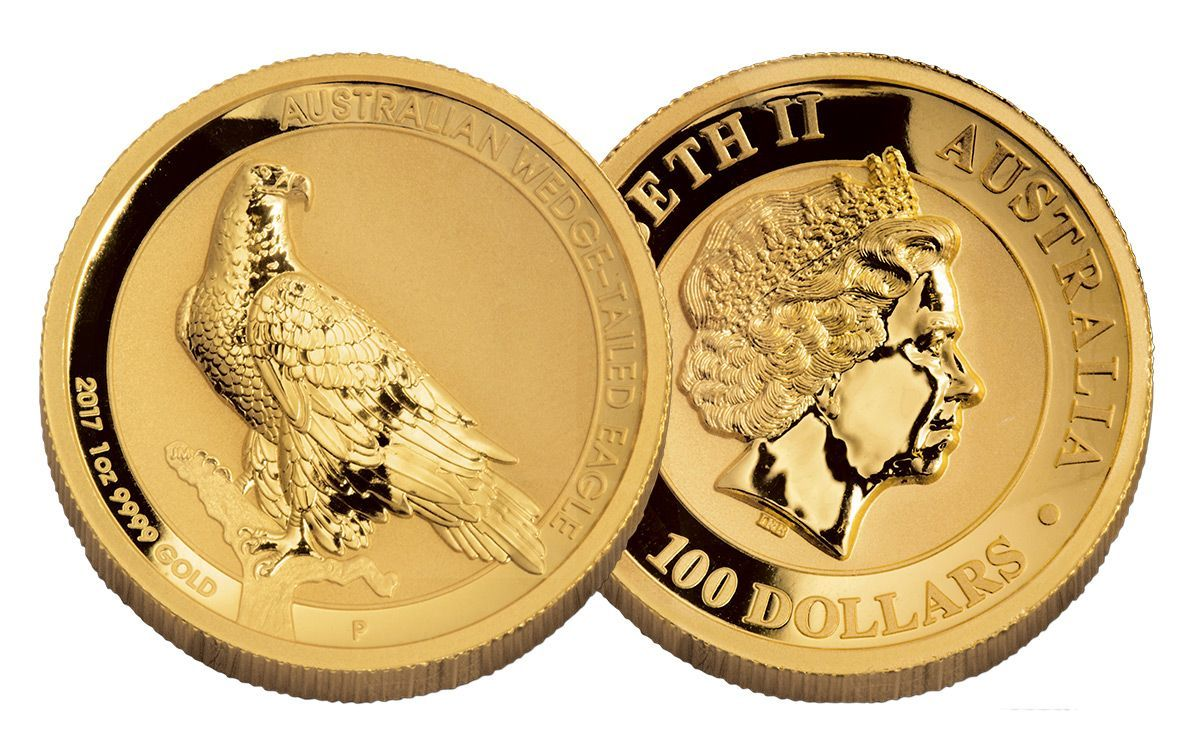 2017 Australia 100 Dollar 1 Oz Gold Wedge Tailed Eagle High Relief Reverse Proof Gold And Silver Coins Wedge Tailed Eagle High Relief