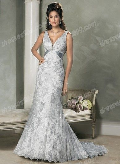 Really Liking The Light Grey Silver For A Vow Renewal Dress