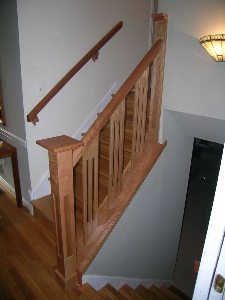 Staircase railing ideas handmade stair railing by dunbar for Interior staircase designs