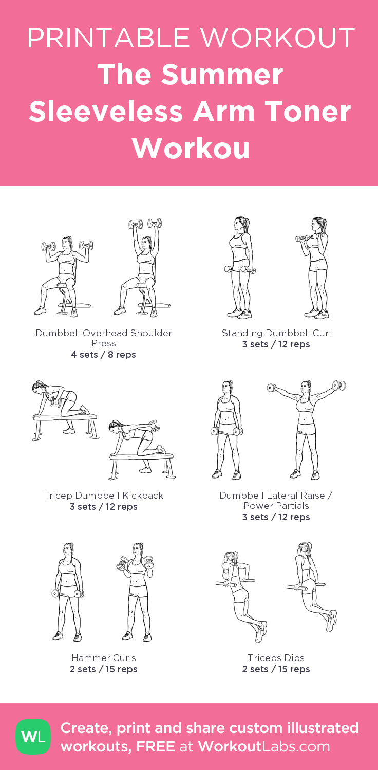 the summer sleeveless arm toner workou my visual workout created at