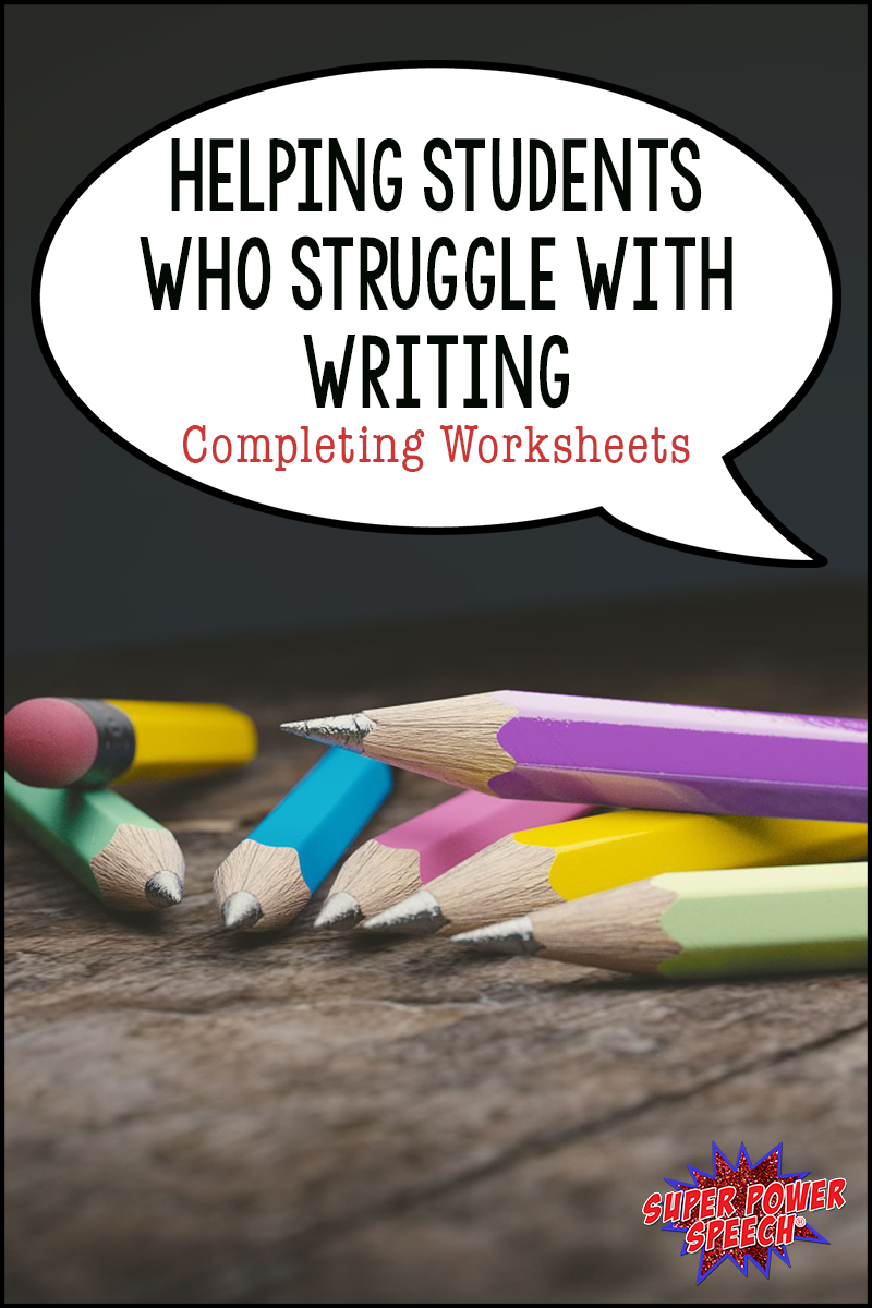 Helping students who struggle with writing – Completing
