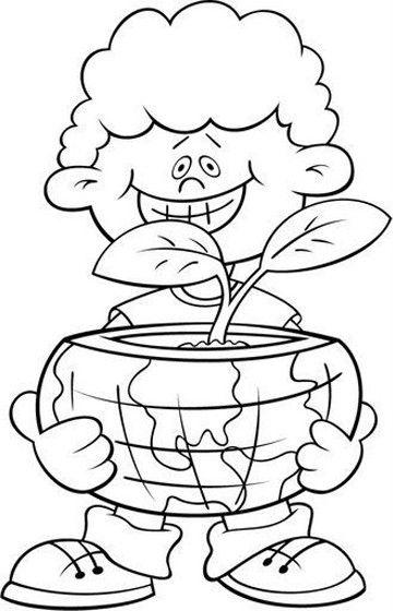 Dibujos Sobre La Conservacion Del Ambiente Para Colorear School