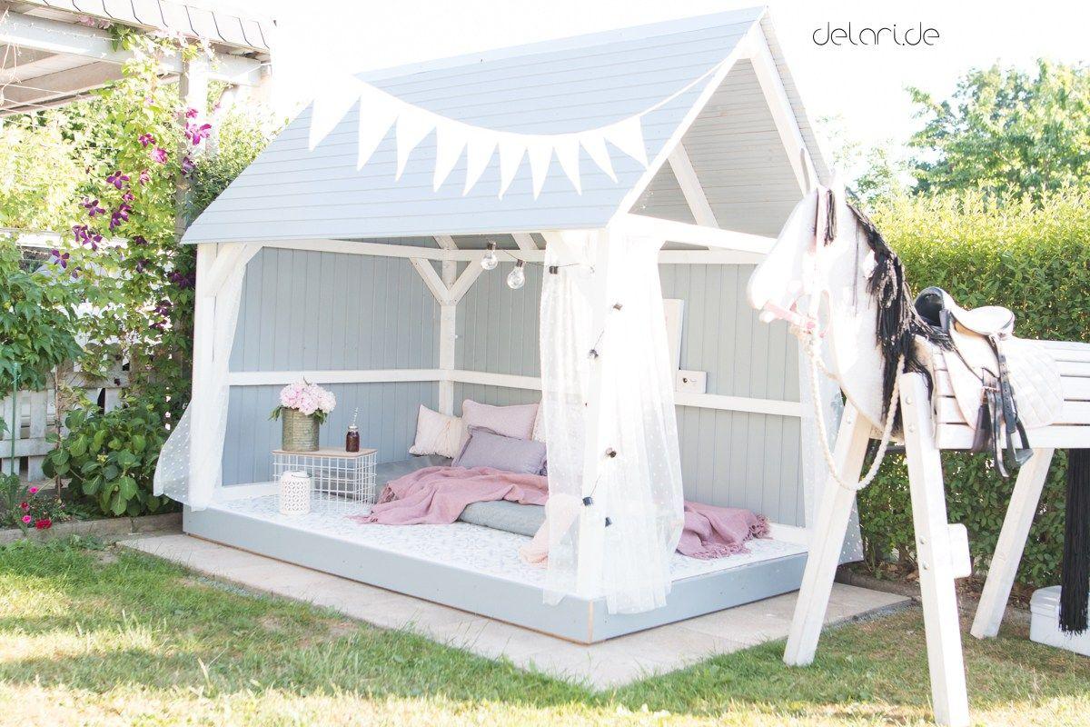 Gartenhaus DIY Delari Mädchen Spielhaus im Garten