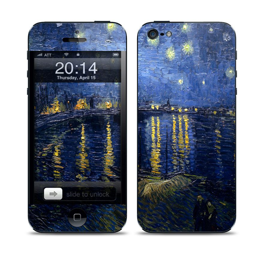 Apple iPhone 5 Skin Cover - Van Gogh Starry Over the Rhone. $9.95, via Etsy.