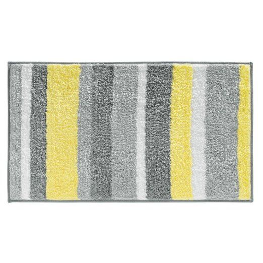 Amazoncom InterDesign Stripz Microfiber Bath Rug Inch By - Microfiber bathroom rugs for bathroom decorating ideas