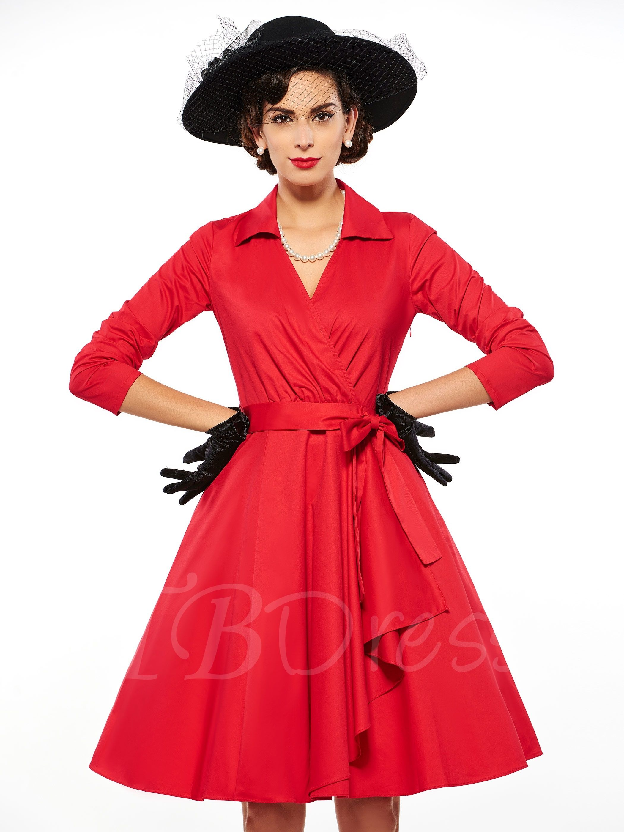 length sleeves womenus rockabilly dress clothing pinterest
