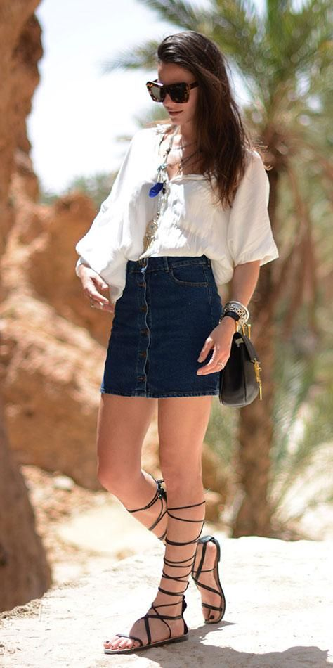 db0cff6292b5 15 Chic Ways to Style Your Knee-High Gladiators This Summer