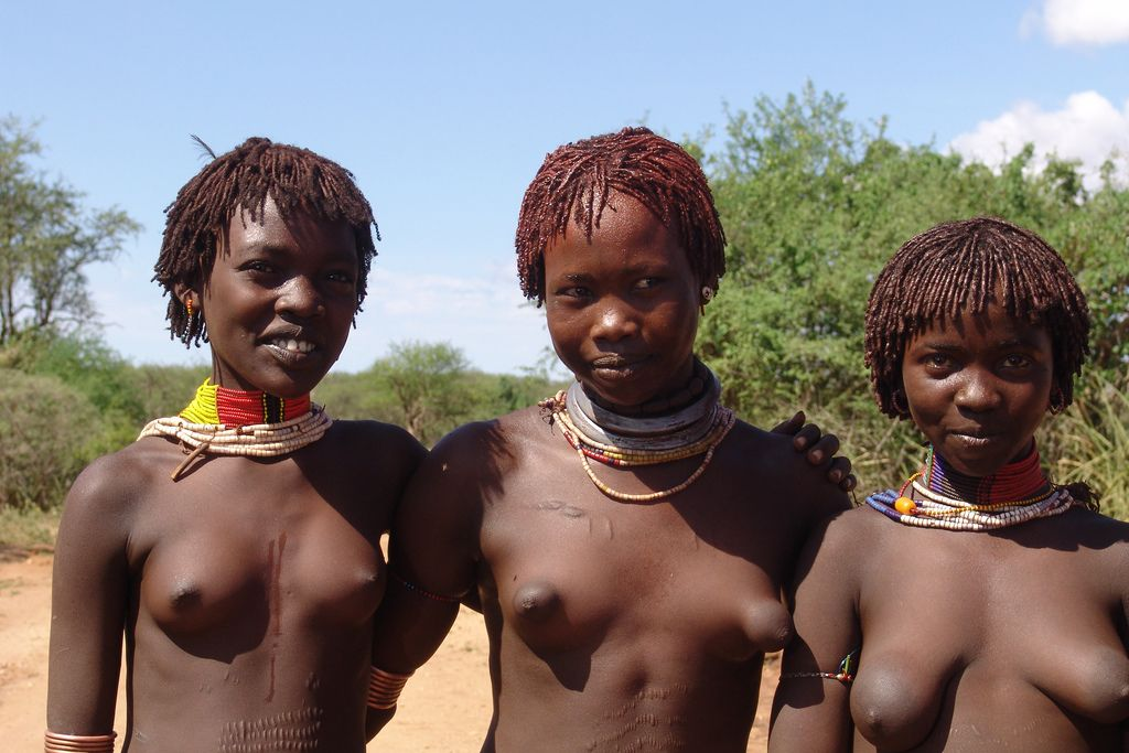 Young african girl tits and