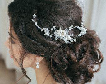 Elise peine peine del pelo de novia perla por IvyandPearlBridal