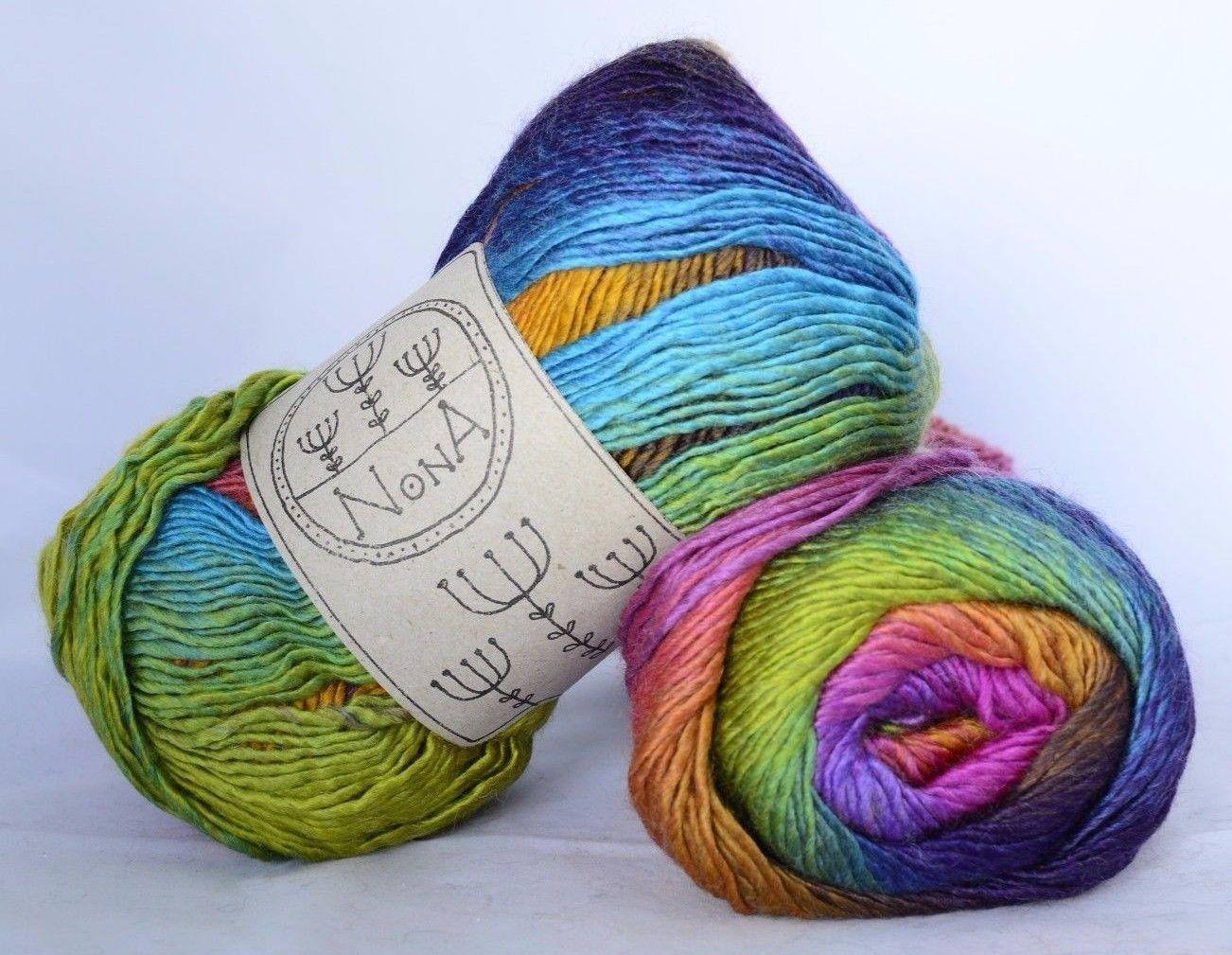 Farbverlaufsgarn Strickwolle Nona Wool Peacock Garn Kaufen Wolle Kaufen Garn