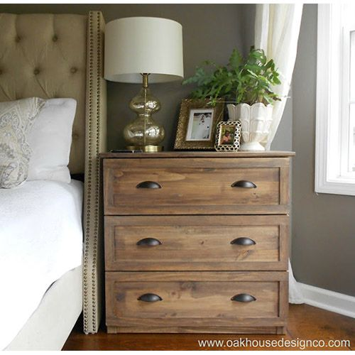 Ikea Hacks With A Pottery Barn Style Vintage Nightstand Pottery