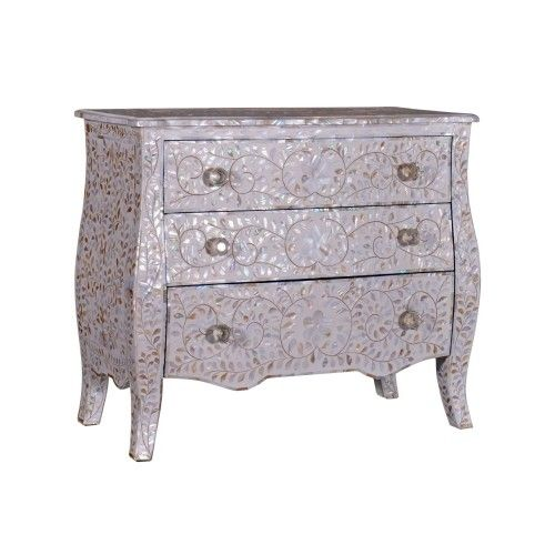 MOP Chest of Drawers White 36x16x30