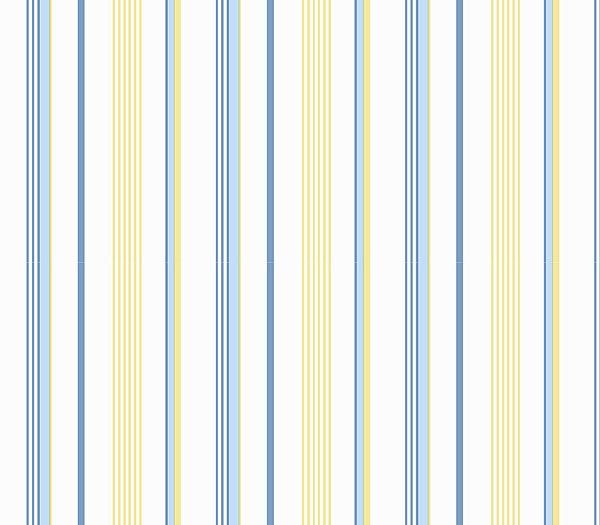 Blue And Yellow Stripe Wallpaper By Wallquest, Kitchen Bathroom Wallpaper  Cottage Prints Shop Wallcovering By Collection   Interior Design