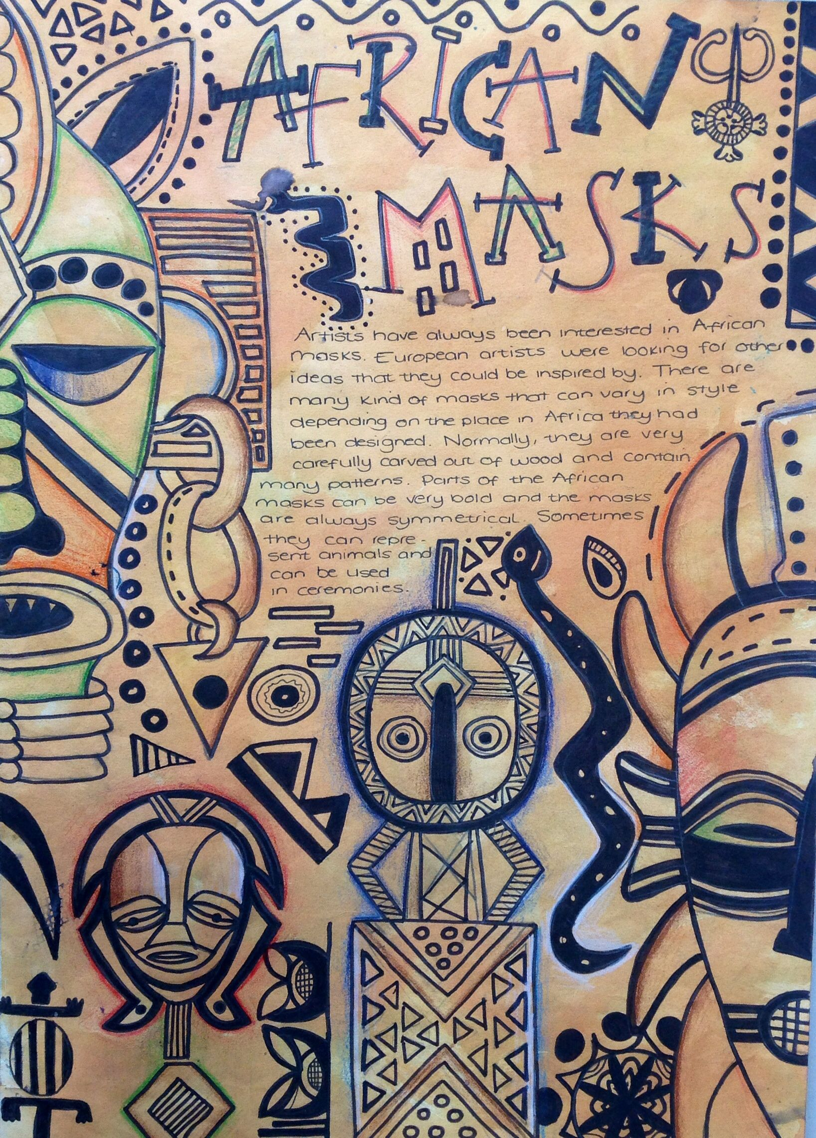 African Masks Research Page