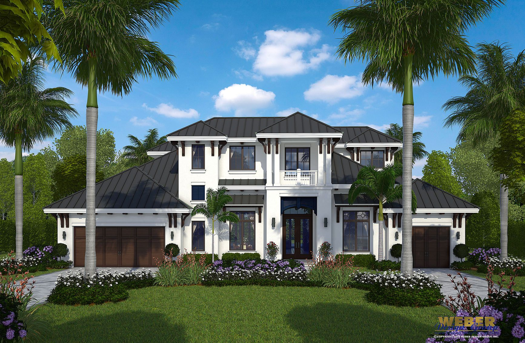 The Two Story House Plan Features A Coastal Transitional West Indies Architectural Style And Offers The Best Florida House Plans Luxury House Plans House Plans