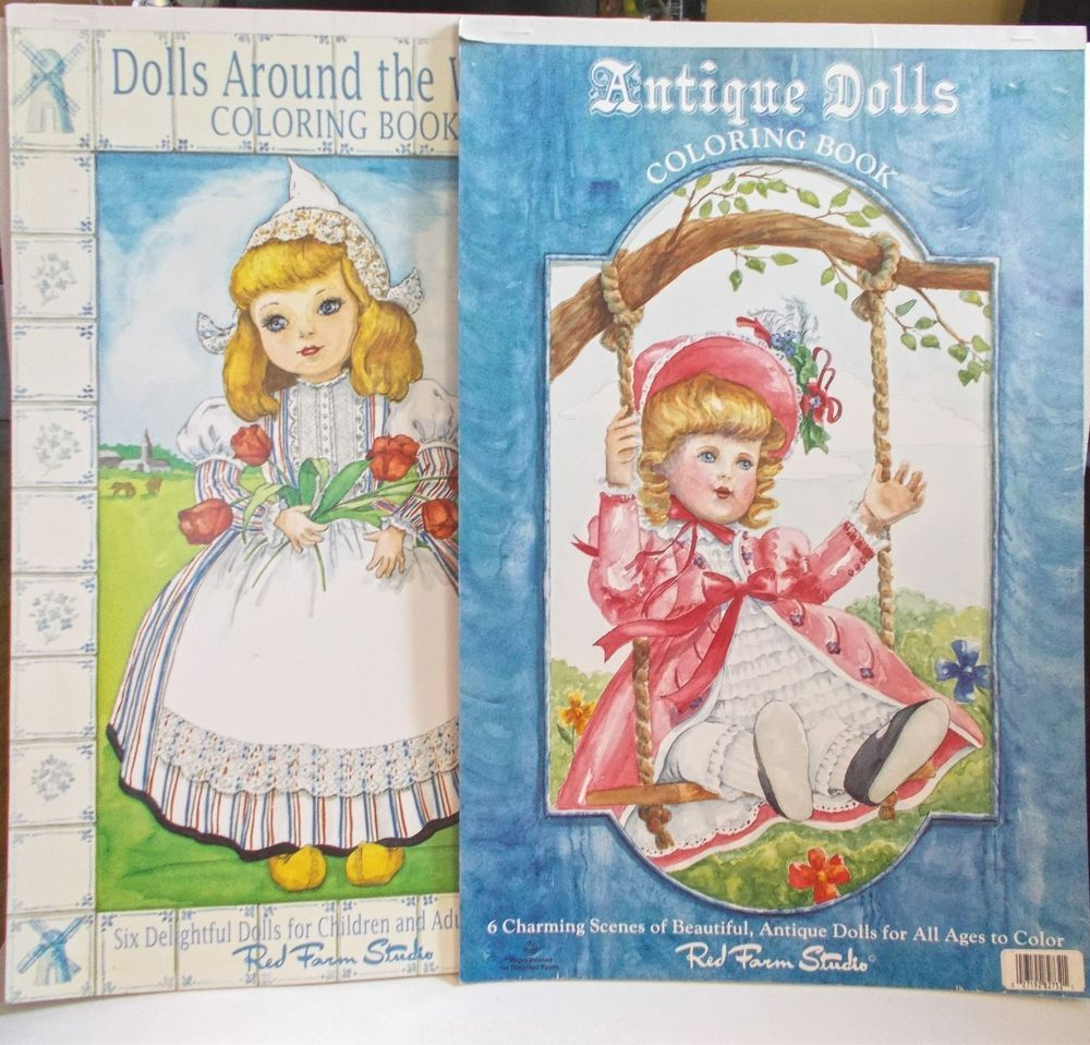 Red Farm Studio #ColoringBooks #Dolls Around World & Antique Dolls ...