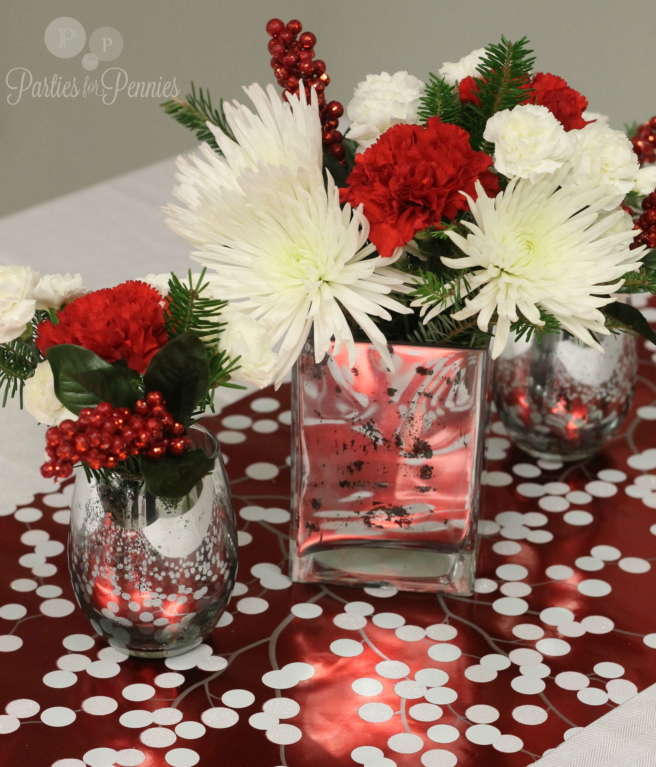 Christmas party centerpiece ideas wallpaper