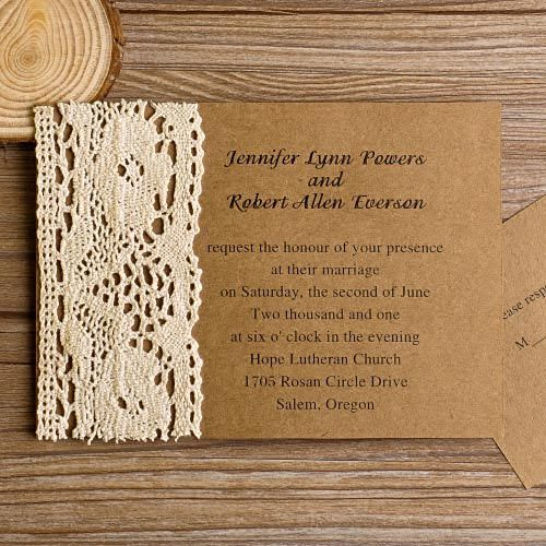 Cheap And Rustic Wedding Invitations As Low 094