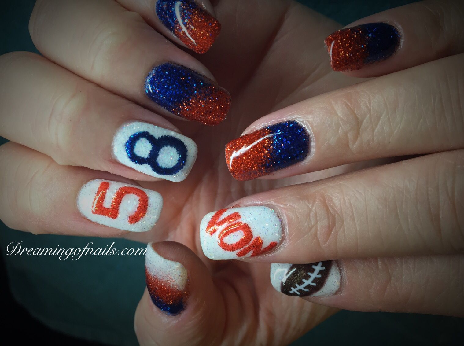 Nail Art Ideas » Denver Broncos Nail Art - Pictures of Nail Art ...