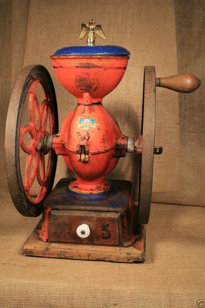 Antique 1898 Enterprise 5 Coffee Mill grinder, WORKS FINE