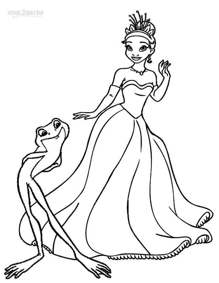 Lovely Princess And The Frog Coloring Pages Disney Princess Colors Princess Coloring Disney Princess Coloring Pages