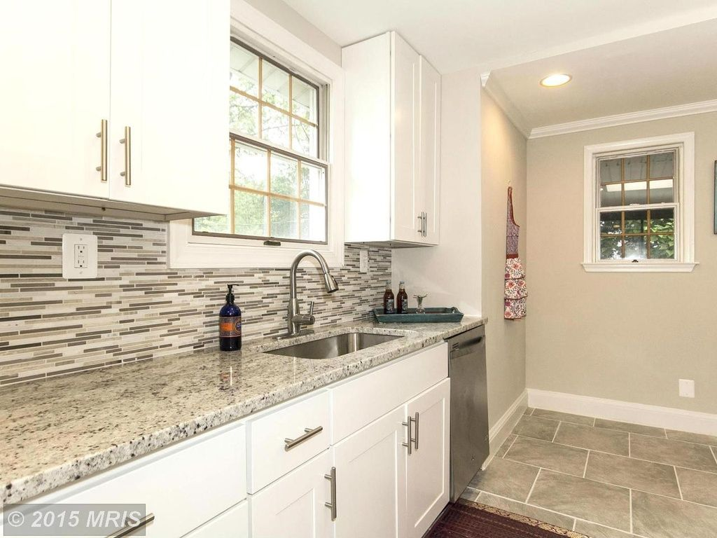 The Tile Goes Right To The Countertop And Does