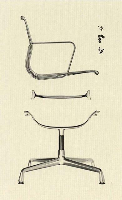 "maxenrich"" Eames aluminium group exploded parts"" Chair"