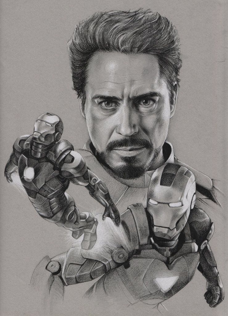 Jaime Santyr: 3D/2D Artist | Pencil Work - Iron Man ...