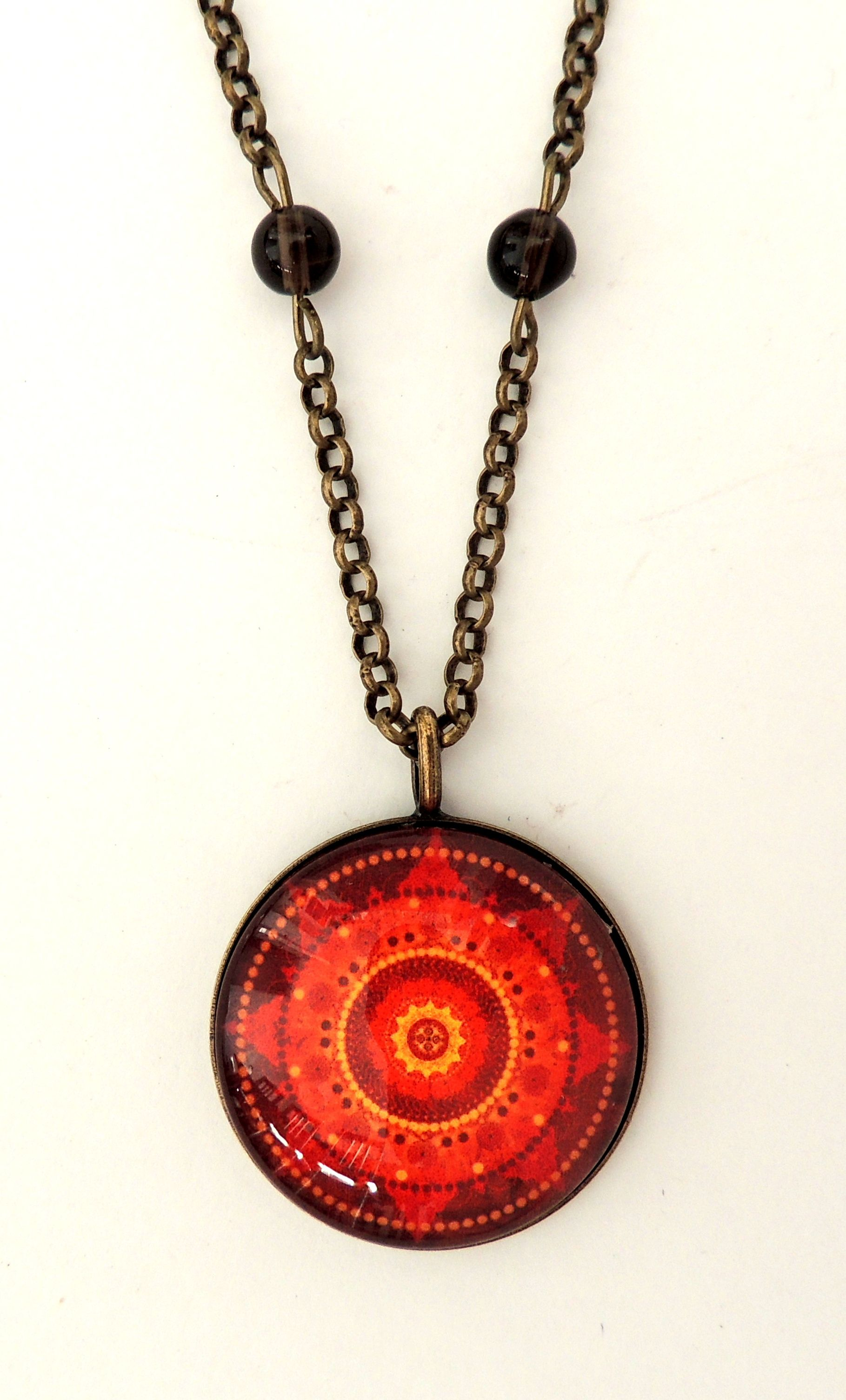 spiritual pendant front and back inspired