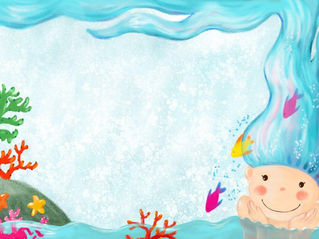HD Wallpapers cute mermaid Carpetas de cartulina, Fondos