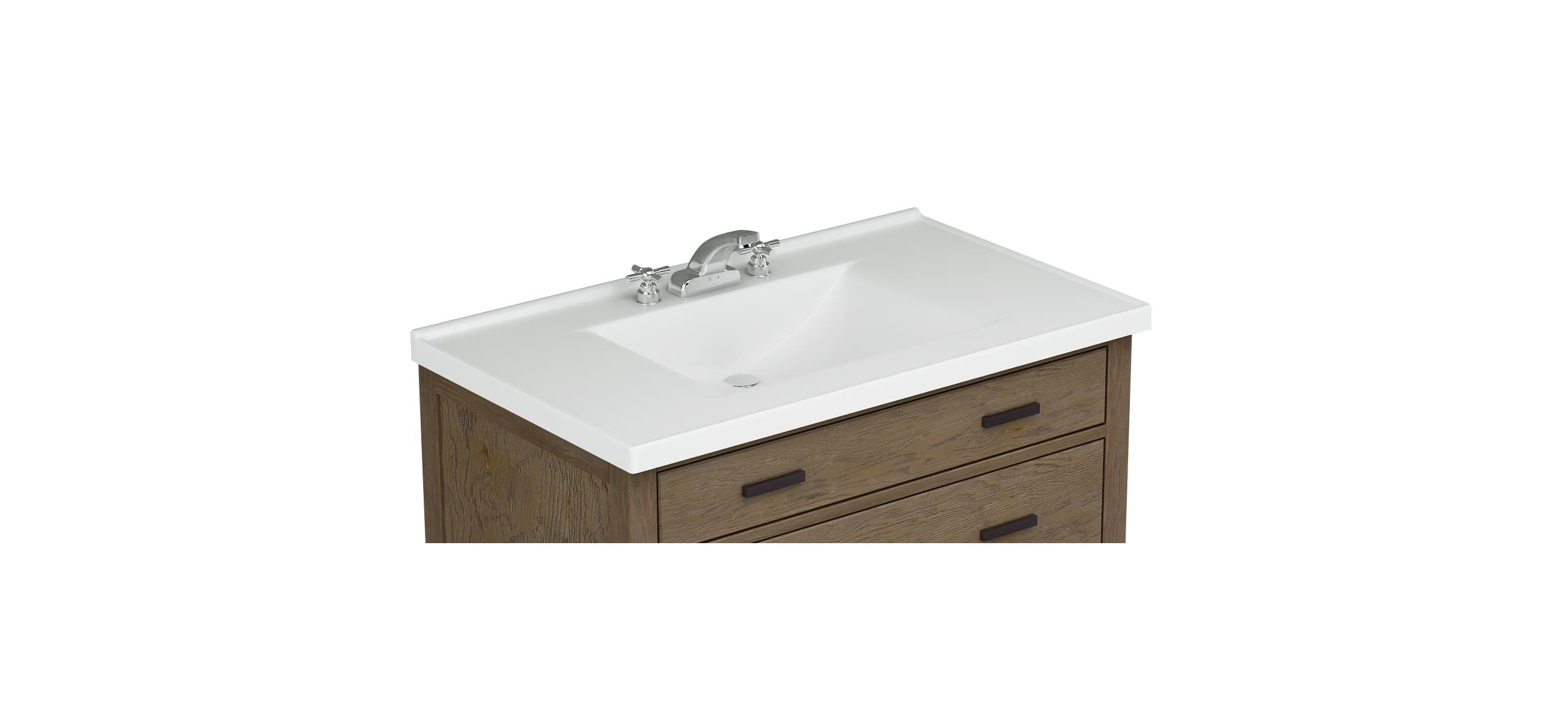 Sagehill Designs Wb3722 37 Cultured Marble Vanity Top With