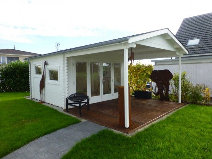 Gartenhaus & Falttüren die perfekte Kombination