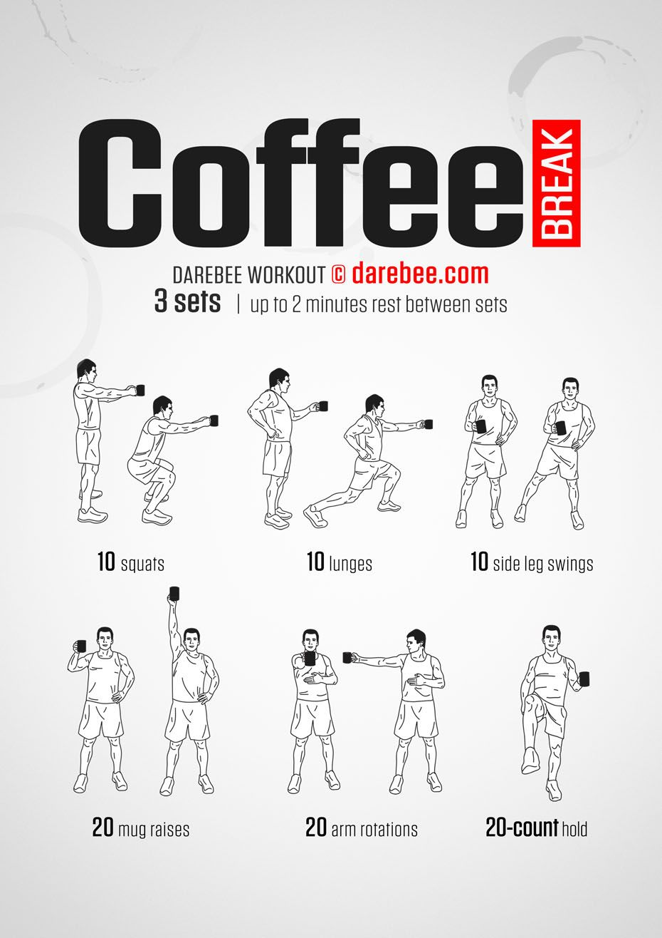 Coffee Break Workout Office exercise, Workout at work