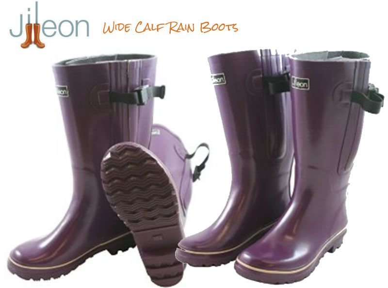 xtra Wide Calf Women's Rubber Rain Boots from Jileon Rainboots ...