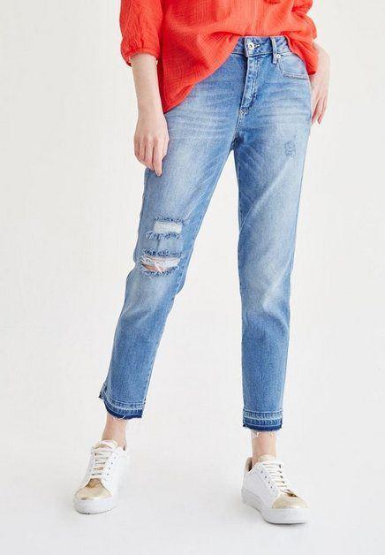 Boyfriend Jeans Mit Modischen Used Details Damen Jeans Jeans Trend Jeans