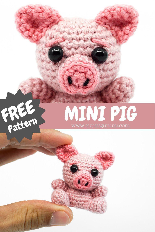 Amigurumi Mini Pig Crochet Pattern