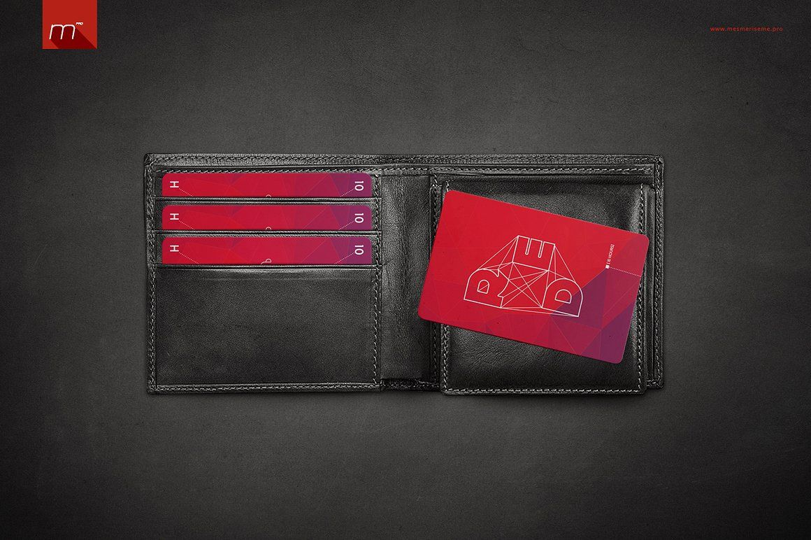 Cards in wallet mockup mendpiwalletcards cards
