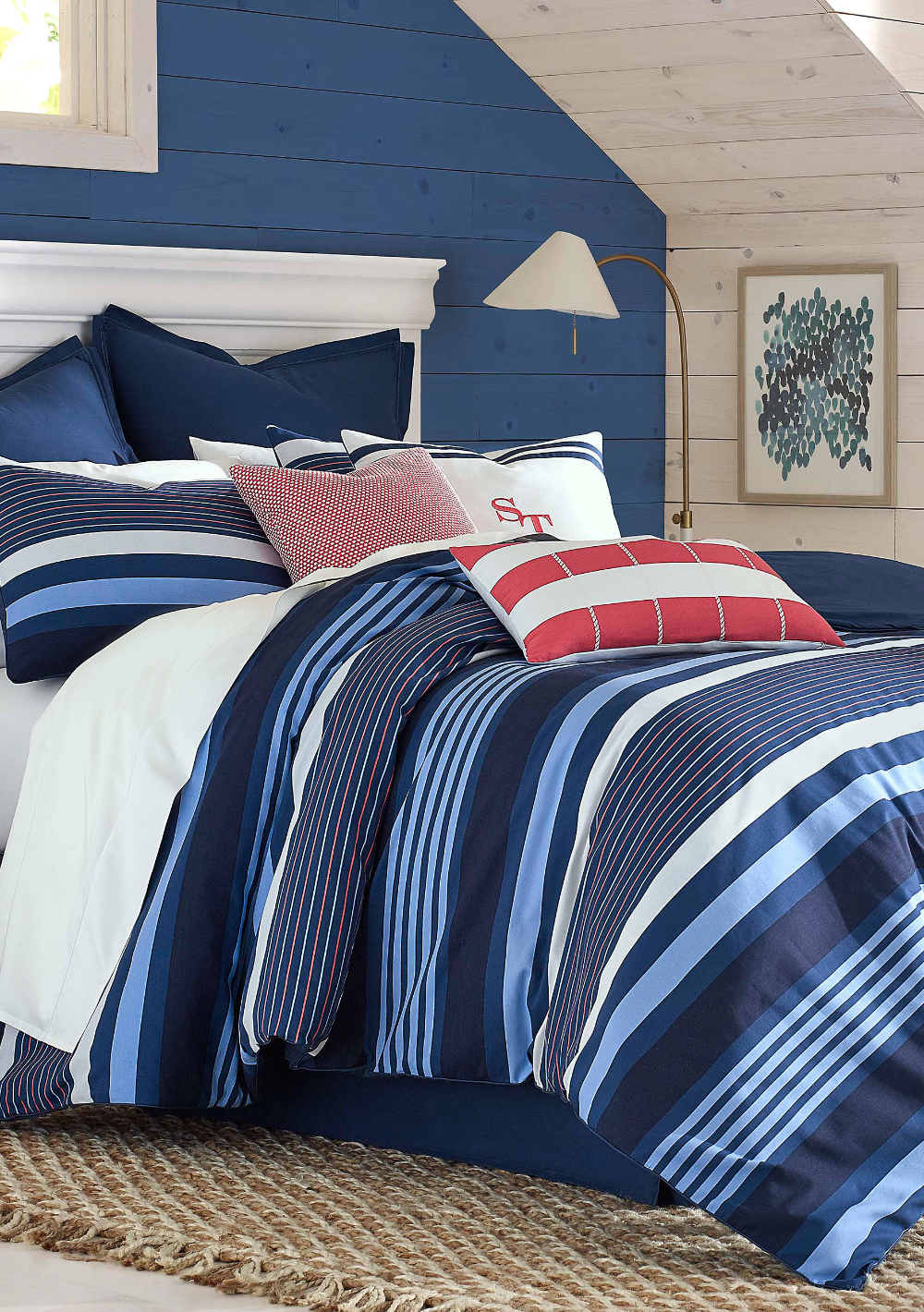 Photo of Southern Tide® Sullivan Stripe Tonal Blue Bed in a Bag Set