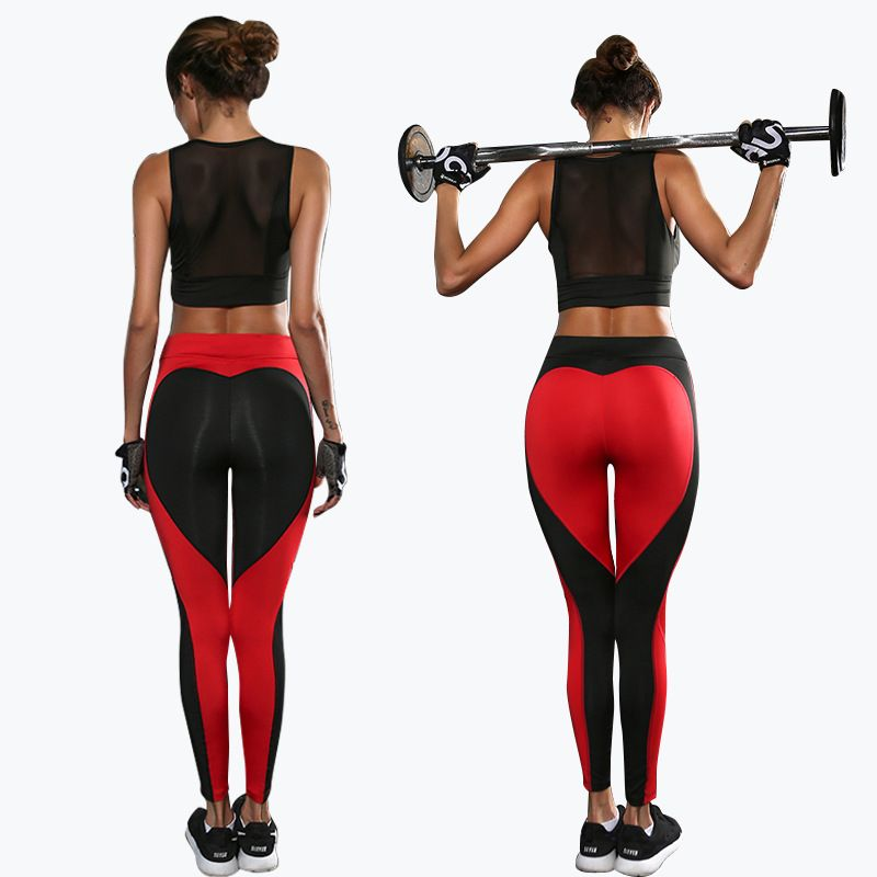 c9b0f29a0a032 2017 Hot sale Heart Booty Pants Gym Wear Yoga Pants Love Leggings Workout  Tights for Women Black White Leggings Yoga clothes. Yesterday's price: US  $24.00 ...