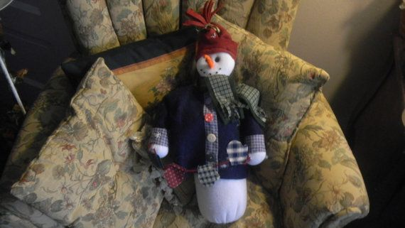 Handmade Snowman for the Holidays by EMTWTT on Etsy, $19.99