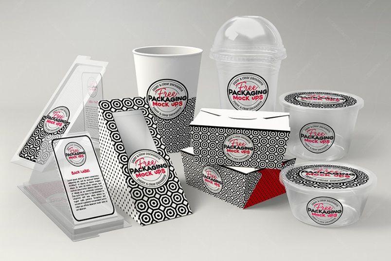 Download Free FAST FOOD PACKAGING MOCKUP PSD | Packaging mockup ...