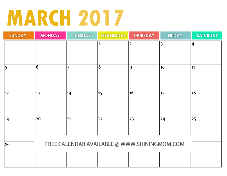 The Free Printable  Calendar By  Free Printable Free And