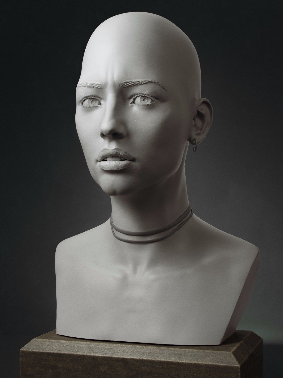 ArtStation - Female face, Magno Coutinho | Portrait Sculptures ...