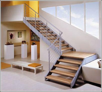 Resultado de imagen para escalera en l medidas escaleras for Como construir una escalera de hierro y madera
