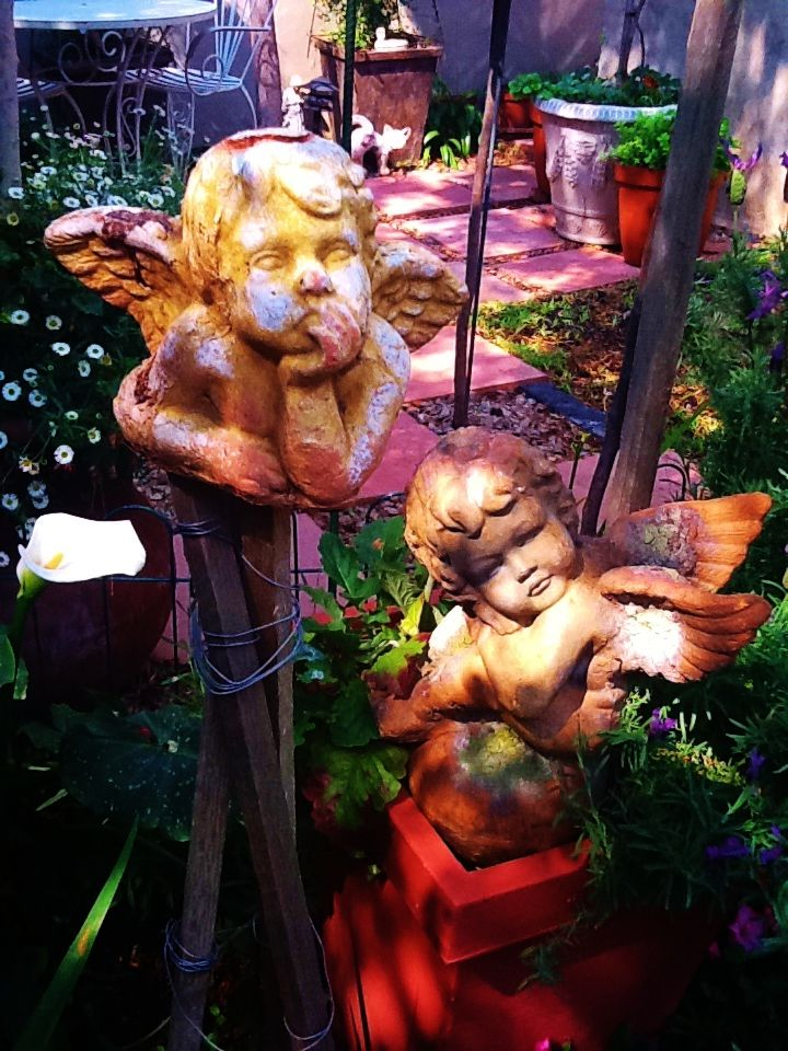 Angel Ornaments used in the garden
